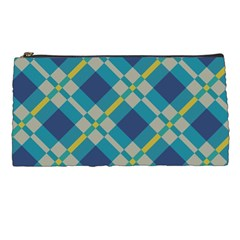 Squares And Stripes Pattern Pencil Case by LalyLauraFLM