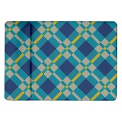 Squares and stripes pattern Samsung Galaxy Tab 10.1  P7500 Flip Case by LalyLauraFLM