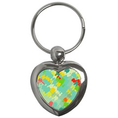 Smudged Shapes Key Chain (heart) by LalyLauraFLM
