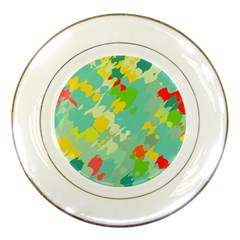 Smudged Shapes Porcelain Plate by LalyLauraFLM