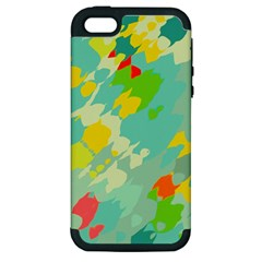 Smudged Shapes Apple Iphone 5 Hardshell Case (pc+silicone) by LalyLauraFLM