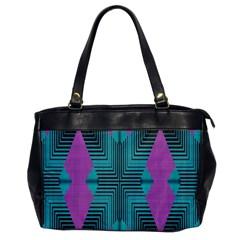 Tribal Purple Rhombus Oversize Office Handbag (one Side) by LalyLauraFLM