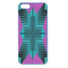 Tribal Purple Rhombus Apple Seamless Iphone 5 Case (color) by LalyLauraFLM