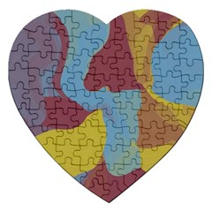 Watercolors Jigsaw Puzzle (heart) by LalyLauraFLM