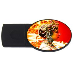 Mata Hari Usb Flash Drive Oval (4 Gb) by icarusismartdesigns