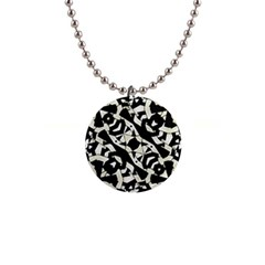 Black And White Print Button Necklace by dflcprintsclothing