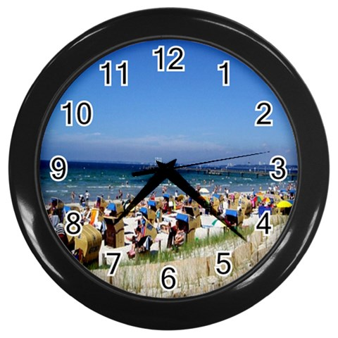 By Pamela Sue Goforth   Wall Clock (black)   Llz5ov2jf334   Www Artscow Com Front