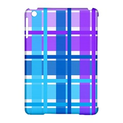 Blue & Purple Gingham Plaid Apple Ipad Mini Hardshell Case (compatible With Smart Cover) by StuffOrSomething