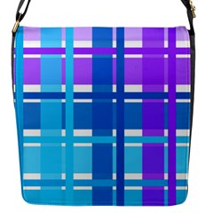 Blue & Purple Gingham Plaid Flap Closure Messenger Bag (small) by StuffOrSomething