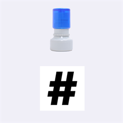 Hashtag Rubber Stamp (small) by spelrite