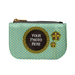 Mini Coin Purse Polka Dot By Lisa Minor   Mini Coin Purse   Op1dlk97stjl   Www Artscow Com Front