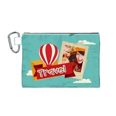 Travel By Travel   Canvas Cosmetic Bag (medium)   Jk5ooxb99g98   Www Artscow Com Front