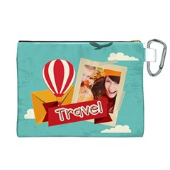 Travel By Travel   Canvas Cosmetic Bag (xl)   Lxhrkst425w4   Www Artscow Com Back