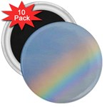 Rainbow 3  Button Magnet (10 pack)