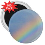 Rainbow 3  Button Magnet (100 pack)