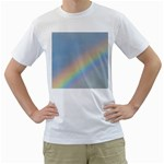 Rainbow Men s Two-sided T-shirt (White)