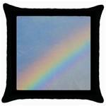 Rainbow Black Throw Pillow Case