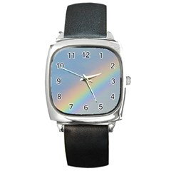 Rainbow Square Leather Watch by yoursparklingshop