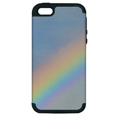 Rainbow Apple Iphone 5 Hardshell Case (pc+silicone) by yoursparklingshop