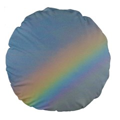 Rainbow Large 18  Premium Round Cushion  by yoursparklingshop
