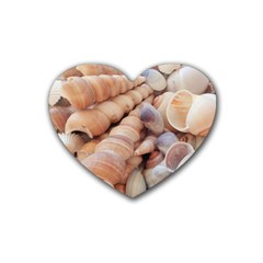 Sea Shells Drink Coasters (heart) by yoursparklingshop