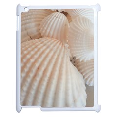 Sunny White Seashells Apple Ipad 2 Case (white) by yoursparklingshop
