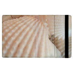 Sunny White Seashells Apple Ipad 2 Flip Case by yoursparklingshop