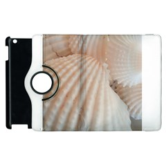 Sunny White Seashells Apple Ipad 2 Flip 360 Case by yoursparklingshop
