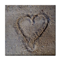 Heart In The Sand Ceramic Tile by yoursparklingshop