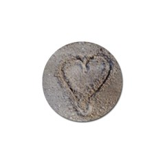 Heart In The Sand Golf Ball Marker by yoursparklingshop