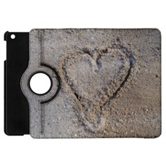 Heart In The Sand Apple Ipad Mini Flip 360 Case by yoursparklingshop