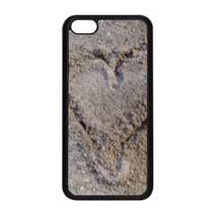 Heart In The Sand Apple Iphone 5c Seamless Case (black) by yoursparklingshop