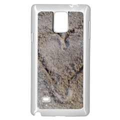 Heart In The Sand Samsung Galaxy Note 4 Case (white) by yoursparklingshop