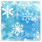 Blue Snowflake Large Satin Scarf - Large Satin Scarf (Square)