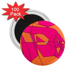 Red Orange 5000 2.25  Button Magnet (100 pack) by yoursparklingshop
