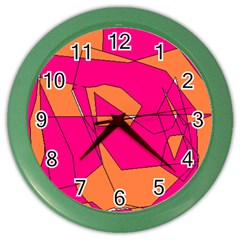 Red Orange 5000 Wall Clock (color) by yoursparklingshop