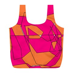 Red Orange 5000 Reusable Bag (l) by yoursparklingshop