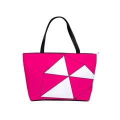 Pink White Art Kids 7000 Large Shoulder Bag by yoursparklingshop