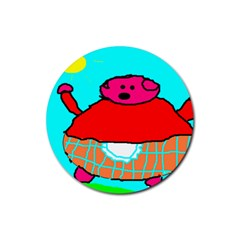 Sweet Pig Knoremans, Art By Kids Drink Coasters 4 Pack (round) by yoursparklingshop