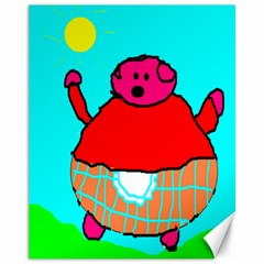 Sweet Pig Knoremans, Art By Kids Canvas 11  X 14  (unframed) by yoursparklingshop