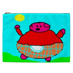 Sweet Pig Knoremans, Art By Kids Cosmetic Bag (xxl) by yoursparklingshop