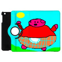 Sweet Pig Knoremans, Art By Kids Apple Ipad Mini Flip 360 Case by yoursparklingshop