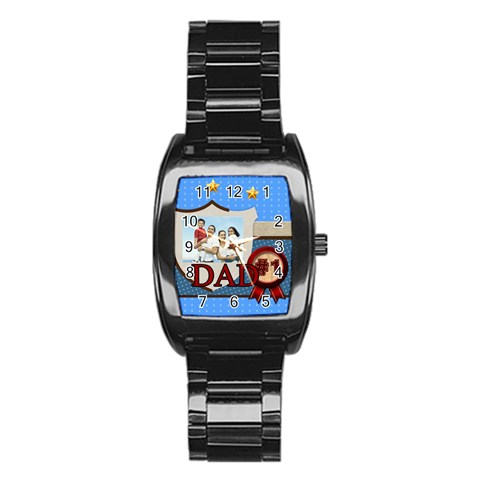 Dad By Dad   Stainless Steel Barrel Watch   5pph5wnxb69y   Www Artscow Com Front