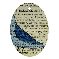 Bird Oval Ornament (two Sides) by boho