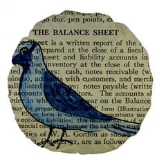 Bird Large 18  Premium Flano Round Cushion  by boho