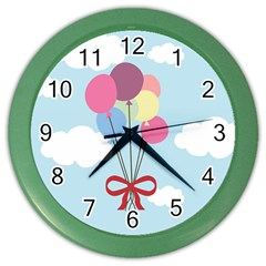 Balloons Wall Clock (color) by Kathrinlegg