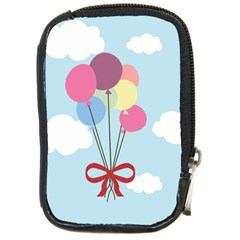 Balloons Compact Camera Leather Case by Kathrinlegg