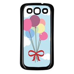 Balloons Samsung Galaxy S3 Back Case (black) by Kathrinlegg