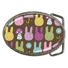 Bunny  Belt Buckle (oval) by Kathrinlegg
