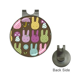 Bunny  Hat Clip With Golf Ball Marker by Kathrinlegg